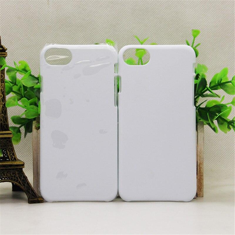 10pcs/lot 3D Matte Glossy Plastic Sublimation Case Cover For iPhone 6S 6 7 8 Plus