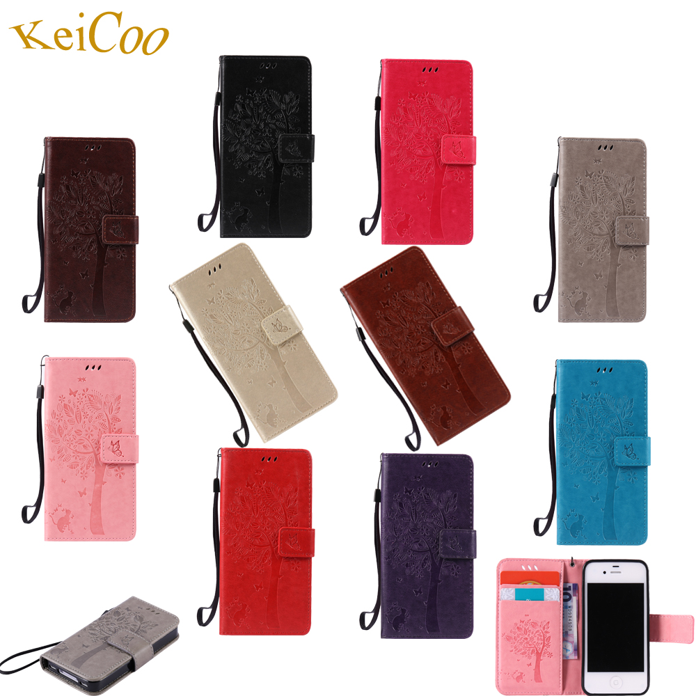 Butterfly Tree Phone Cases For SAMSUNG Galaxy S3 3 GT-I9300 Wallet Card Slot Book Flip Covers S3 Duos Silicon Full Housing Cases