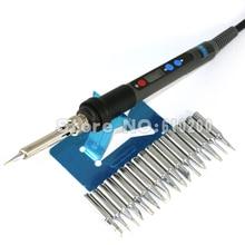 Прецизионная Подсветка ЖК-цифровой Регулируемый бессвинцовый Электрический паяльник ESD паяльная станция 90 Вт+ 17/шт. 900 м паяльный наконечник EU