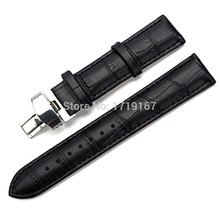 20mm 22mm 24mm For T035 Tissot Genuine Leather Watch Band Strap Watchband Silver Butterfly Buckle Clasp + Tool все цены