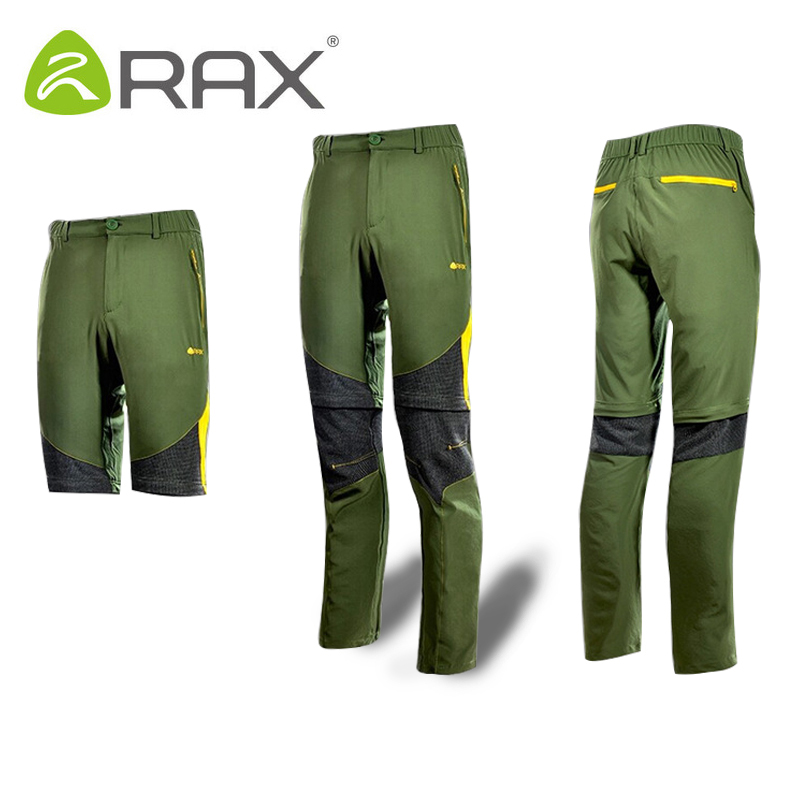 Rax Outdoor Men Women Quick drying Hiking Pants Men Windproof Outdoor Fishing Trekking Cycling Pants Camping Men Removable