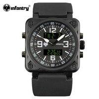 INFANTRY US Navy Military Alarm Day Digital Quartz Men S Sports Outdoor Wrist Watch Rubber Watches