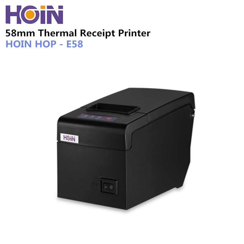 HOIN HOP-E58 58mm Thermal Receipt Printer 130mm/s High-speed Print Supports Windows Linux Android iOS for Supermarket Restaurant
