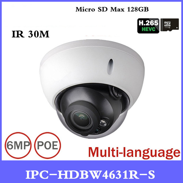 DH New Security Camera IPC-HDBW4431R-S Upgrade Version IPC-HDBW4631R-S 6MP POE Security Camera with SD Card slot dahua h 265 ip camera ipc hdbw4631r s replace ipc hdbw4431r s 6mp poe cctv camera 30m ir 1080p network camera onvif sd card slot