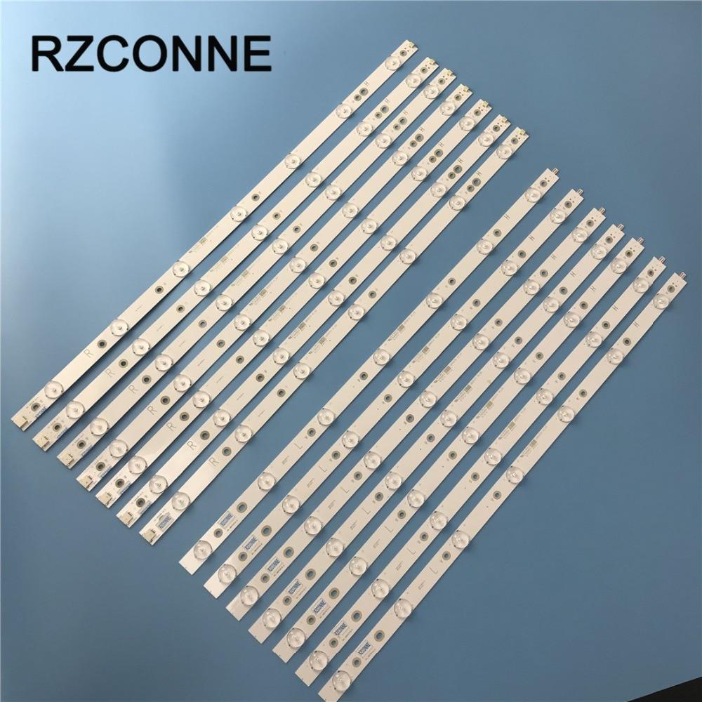 LED Backlight Strip 7+7 Lamp For Philips 55'' GJ-2K16-550-D714-V4-R GJ-2K16-550-D714-V4-L 55PFF5701/T3 LB55072 55PUS6501/12