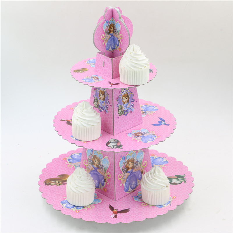 Sofia Theme Princess Cupcake Holder Cartoon Baby Shower Cupcake