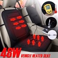 Winter 12V Car Vehicle Heated Seat Cushion black Heating Pad Winter Warmer Cover monolithic keep warm car-covers for  universal