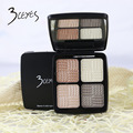 3CEYES nude makeup Baking minerals 4 color eye shadow Platte fashion color naked Shimmer Matte eyeshadow plate set
