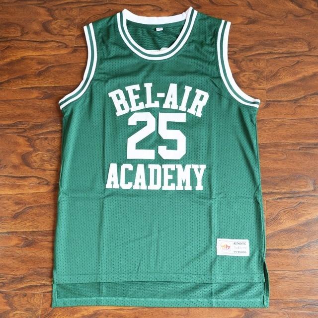 MM MASMIG Carlton Banks  25 Bel-Air Academy Basketball Jersey Stitched Green 0d7f1366db04