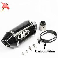 51 мм углеродного волокна мотоцикл выхлопной M4 глушитель для yoshimura Escape мото для M4 Z750 800 250cc 500cc 600cc 750cc 800cc MT09 07