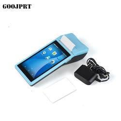 POS z systemem Android 6.0 PDA Mini drukarka pokwitowań 58mm GPS ręczny terminal płatniczy NFC Bluetooth WIFI 4G kamera GPS PDA wsparcie OTG|Drukarki|   -