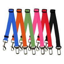 Dog & Cat Adjustable Car Safety Belt Collar 6 Colors Pet Puppy Pup Hound Vehicle Seatbelt Quick Release Lead Leash for Dogs