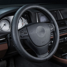 Cowhide Car Steering Wheel Cover For Mitsubishi Lancer Outlander Pajero Verada asx I200 Galant Auto Accessories car styling