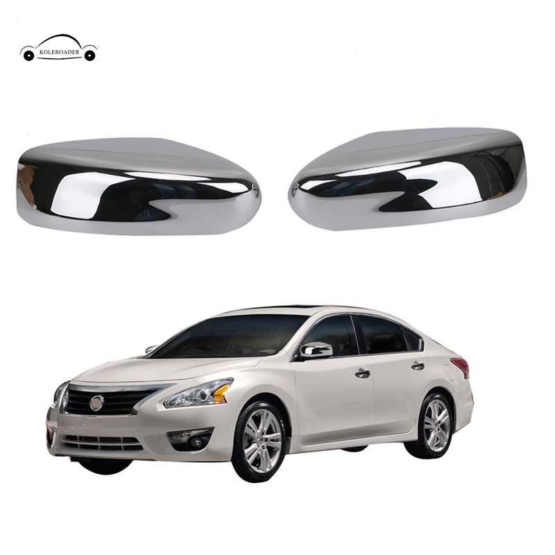 Chrome Plated Door Side Mirror Cover W O Turn Signal For Nissan