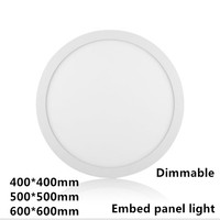 Dimmable 400*400mm 500*500mm 600*600mm LED Panel Light Ultra thin lights 110v 220V with driver