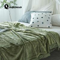 Novo 2017 Imitação De Veludo Vison Cobertor para Adulto Macio Cobertor De Lã de Pelúcia Sólida 350G Mais Grossos Cobertores no Sofá/cama Cobertor Do Lance