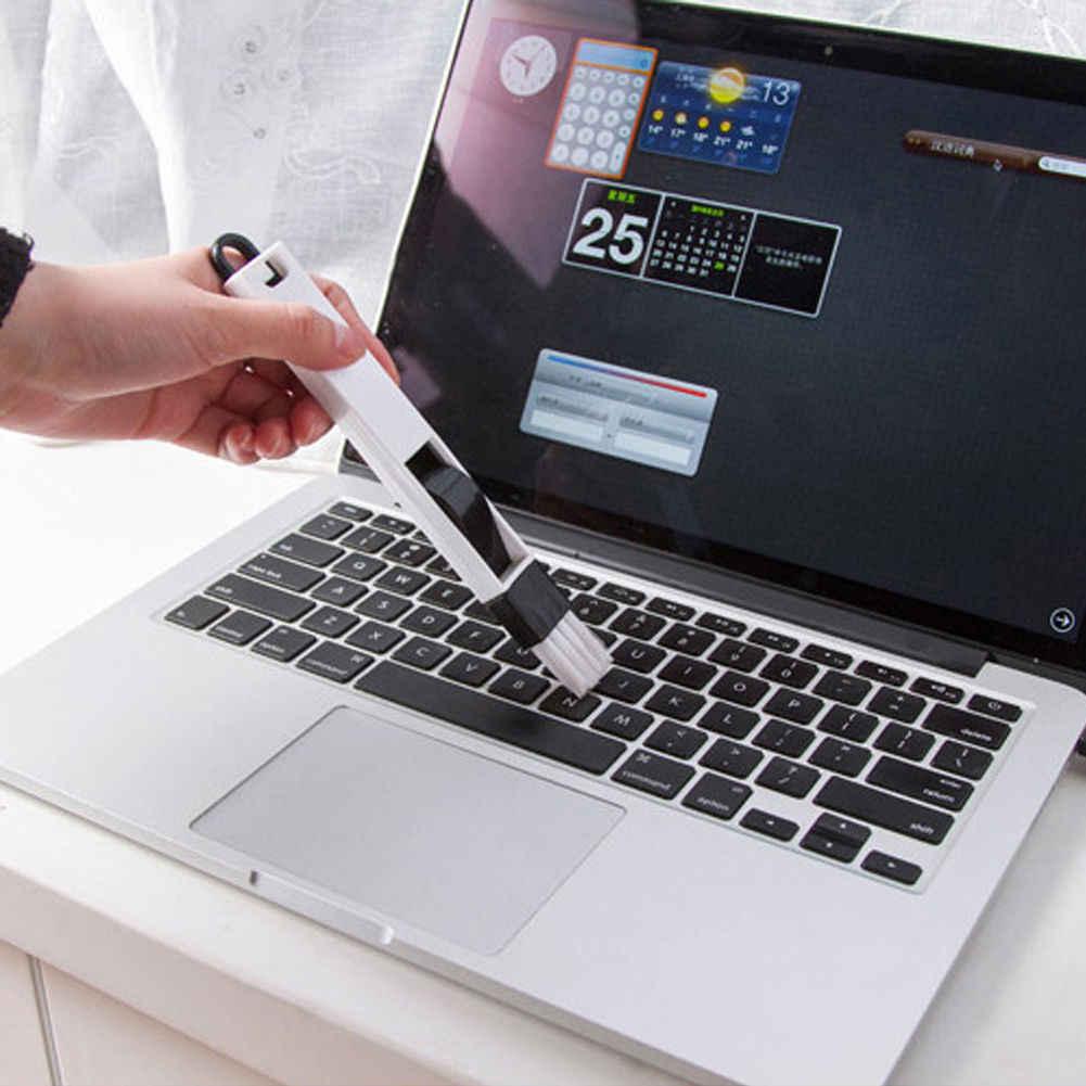 2019 أحدث العصرية متعددة الأغراض نافذة الباب لوحة المفاتيح أدوات تنظيف فرشاة قطعة أثرية نظافة + مجرود 2 في 1 أداة اللون عشوائي