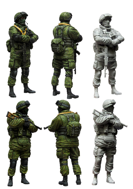 [tuskmodel] 1 35 scale resin model figures kit Modern Russian Soldiers e1 1