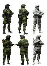 [tuskmodel] 1 35 scale resin model figures kit Modern Russian Soldiers e1(China)