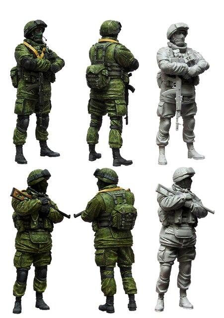 [Tuskmodel] 1 35 escala kit modelo de figuras de resina Modern Soldados Russos e1
