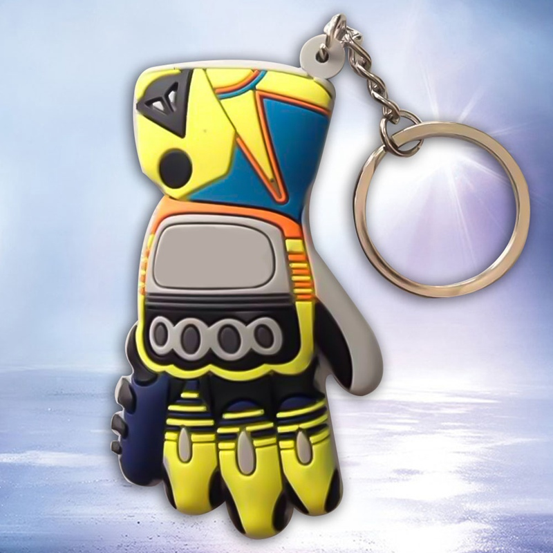 3D Rubber Keychain Keyring llaver MOTO GP For Motorcycle Motocross Racing Suits