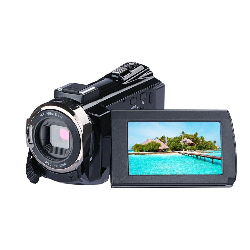 4 K Digital Câmera De Vídeo WI-FI 1080 P Night Vision Cam Anti-Shake Com Hot Shoe 16X Filmadora Digital zoom Gravador de Ultra HD Camare