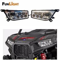 2017 New Product Polaris ATV LED Headlight Kit For 2014 2016 Polaris RZR XP 1000 2015