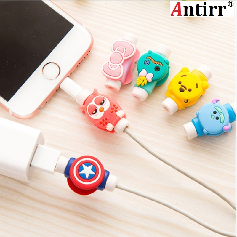 Cartoon Cute Lovely Usb <font><b>Cable</b></font> Protector <font><b>Cable</b></font> Case For Iphone 6 6s 7 7plus 8 X Cover Winder Cord Protector <font><b>Organizer</b></font> <font><b>Cable</b></font> Bow image