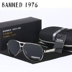 BANNED Cool men's Polarized Sunglasses brand new gafas male driving Sun Glasses classic eyewear Oculos with original box