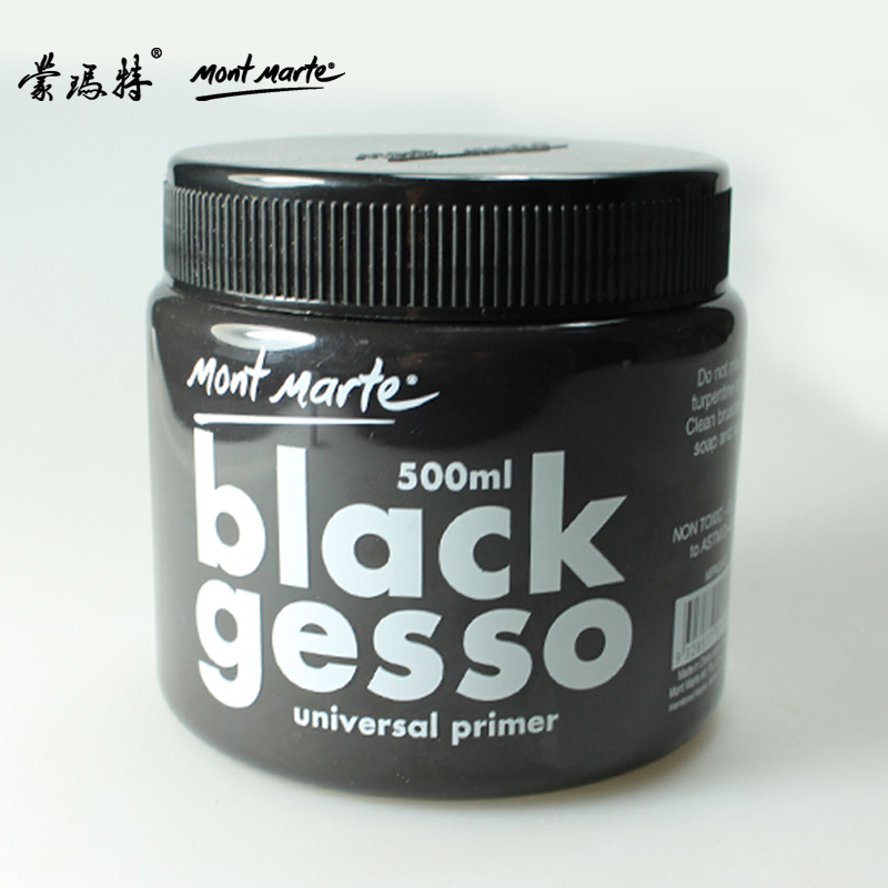 Freeshipping 500ml Montmartre black oil painting bottom material of high quality 500ml gesso/ canned paint barrel orlane 500ml