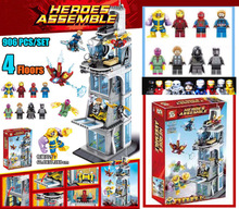 New SuperHeroes Iron Man fit legoings Avengers 4 Endgame Avengers Tower figures Marvel Model Building block Bricks gift kid Toy