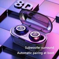 TWS беспроводные Bluetooth наушники водонепроницаемые спортивные наушники 5,0 с зарядным устройством сенсорное управление наушники Встроенный м...