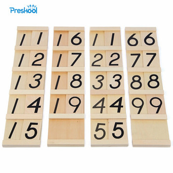 Montessori Teens and Tens Boards Wooden Toys Early Childhood Education Preschool Training Baby Toy