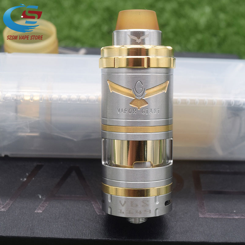 Hot Arrival Vapor Giant V6S 23mm RTA 6ML Capacity 316ss Adjustable Bottom Airflow Single Coil Atomizer VS Giant M5 MTL RTA
