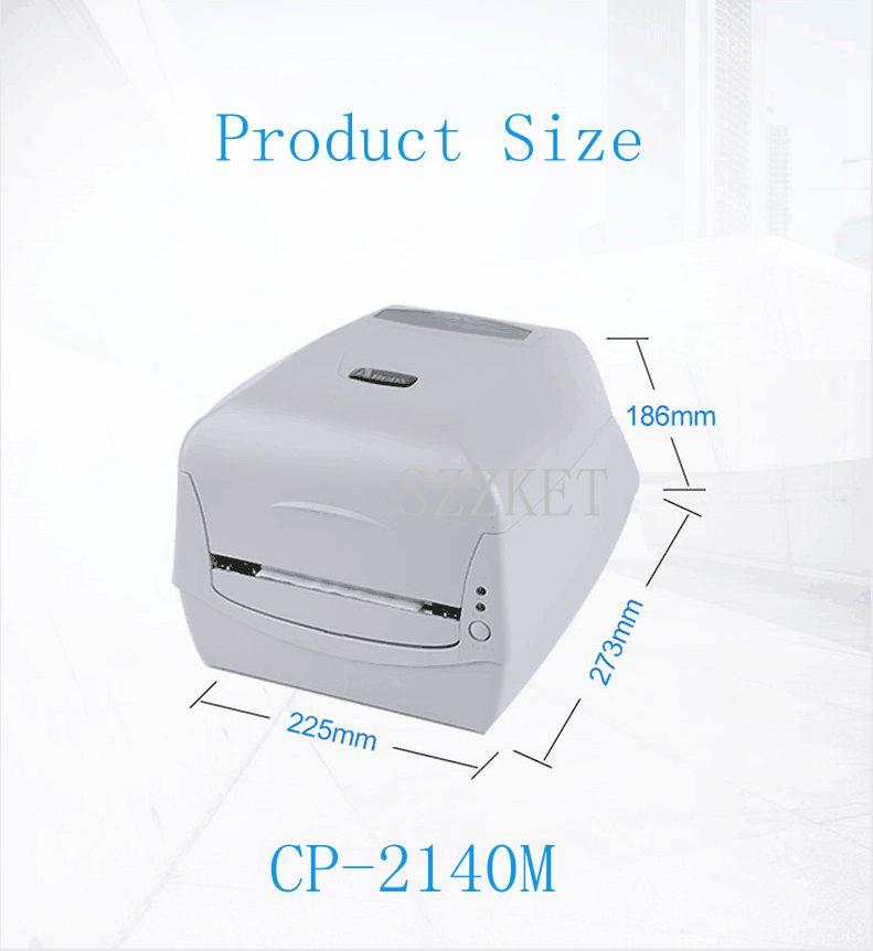 Thermal Printer Adhesive Thermal Transfer Printer CP 2140M 203DPI, Surface Label Original Thermal BarCode Printer CP2140M CP2140