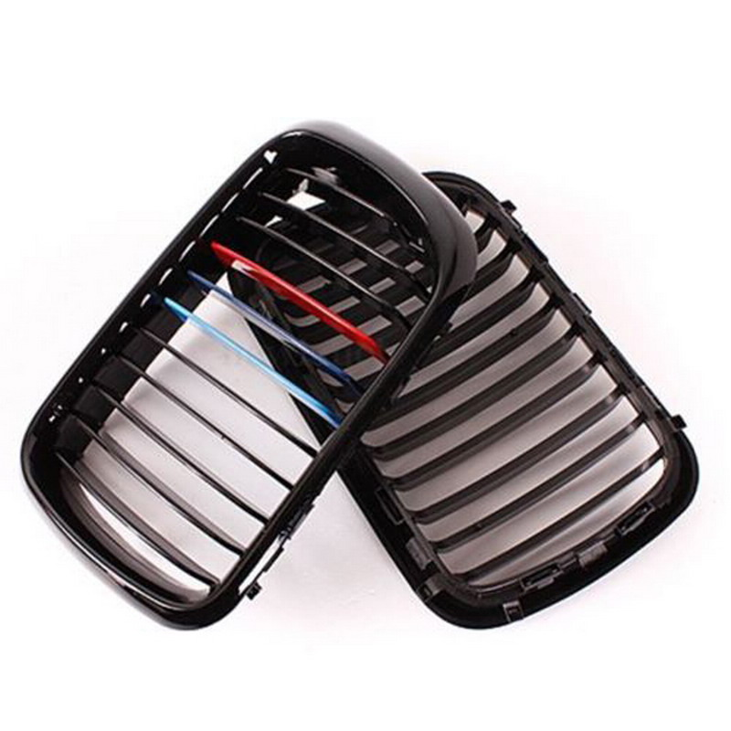 Car Styling Front Gloss Black M Style Kidney Grille Grill Lattice For BMW E36 M3 3 Series 1997-1999 SR1G цена