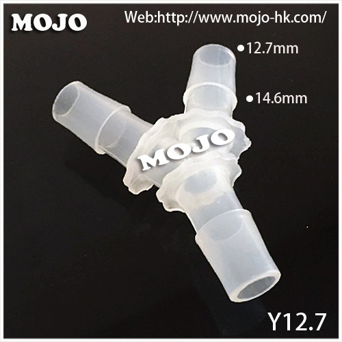 Free shipping!! MJ-Y12.7 Tee type plastic pp material hose pipe connectors(10pcs/lots)