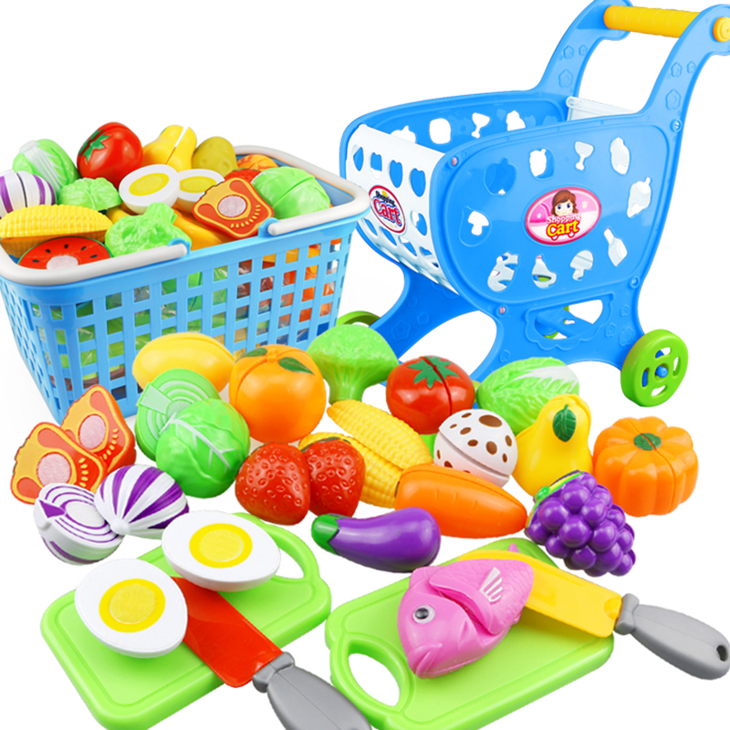 23PCS Plastic Kitchen Food Fruit Vegetable Cutting Kids Pretend Play Toy Pizza Cake Educational Toy Cook Cosplay Mini Food Toys 34pcs children s kitchen toys cutting fruit vegetable plastic drink food kit kat pretend play early education toy for kids