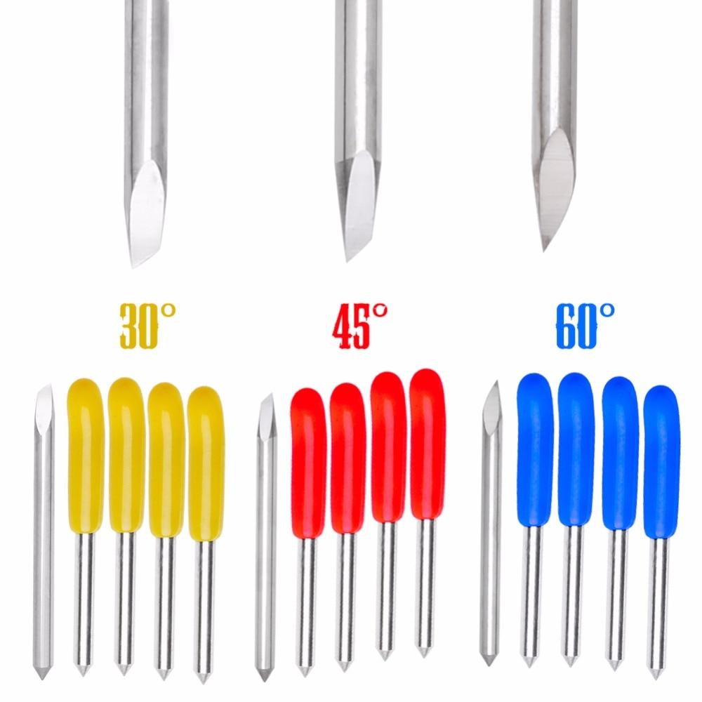 Hot 5Pcs 30 45 60 Degree Blades Cutting Plotter For Pcut Vinyl Cutter Blade