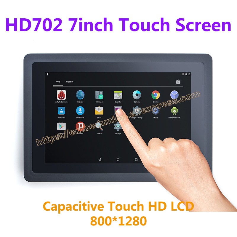 все цены на FriendlyARM 7 inch capacitive touch HD LCD Resolution 800*1280 High Definition one-wire technology works with 4412/4418/6818 онлайн