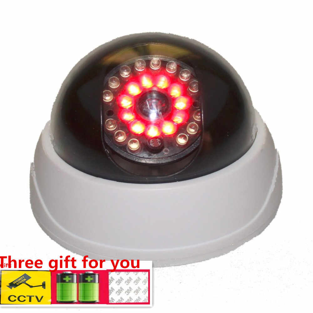 Fake Dummy CCTV Security Camera 25 LED Light IR Color Surveillan Indoor Outdoor Flashing Red LED Light for Home and Office