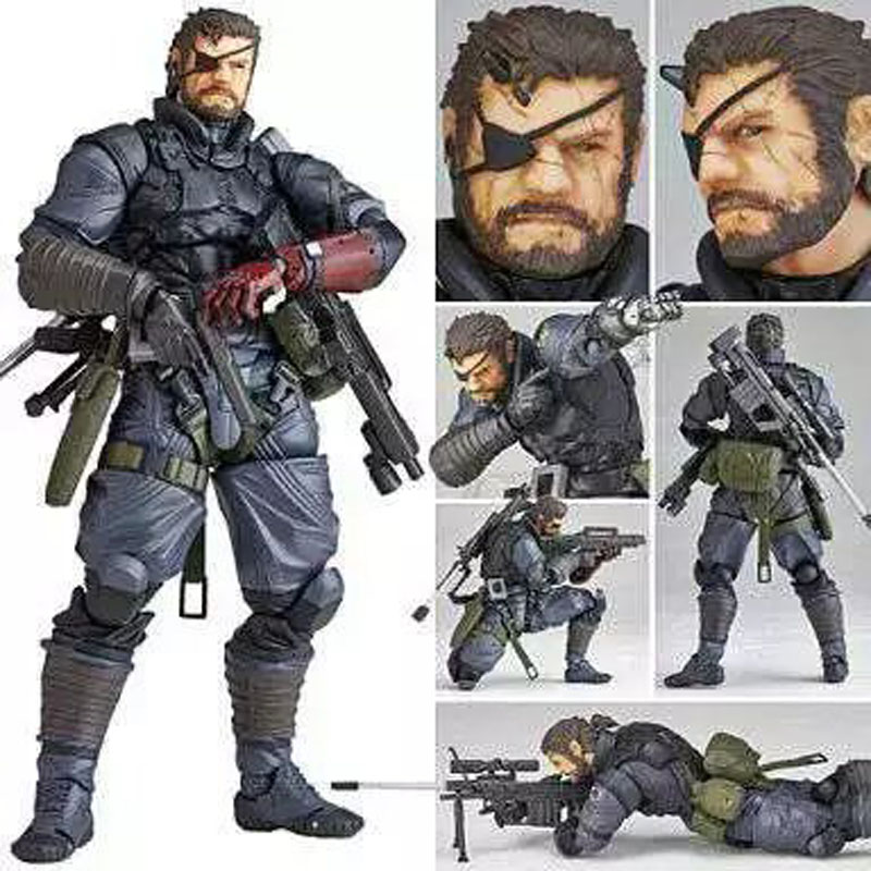 15cm Vulcanlog 004 MGS Metal Gear Solid V The Phantom Pain Venom Snake PVC Action Figure Resin Collection Model Doll Toy Gifts sephora collection cream lip stain жидкая губная помада 57 dare to be pink