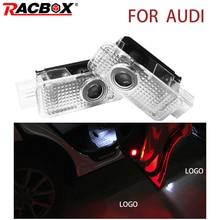 цена на LED 3D Car Door Welcome Light LED Projector Logo Lamp For AUDI A1 A3 A4 A5 A6 A7 A8 R8 Q3 Q5 Q7 TT
