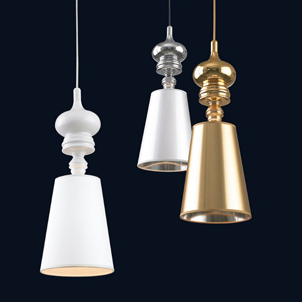Josephine T Pendant By Jaime Hayon from Metalarte Small Large Version Lamp Suspension Light Lighting Black/ White/ Gold/ Silver