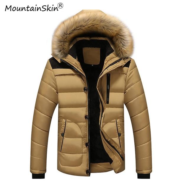 52f4261b86 US $32.18 17% di SCONTO|Mountainskin 5XL Uomo Inverno Parka Casual  Pelliccia Giacche Con Cappuccio In Pile Caldo Parka Uomo Di Spessore  Cappotti di ...