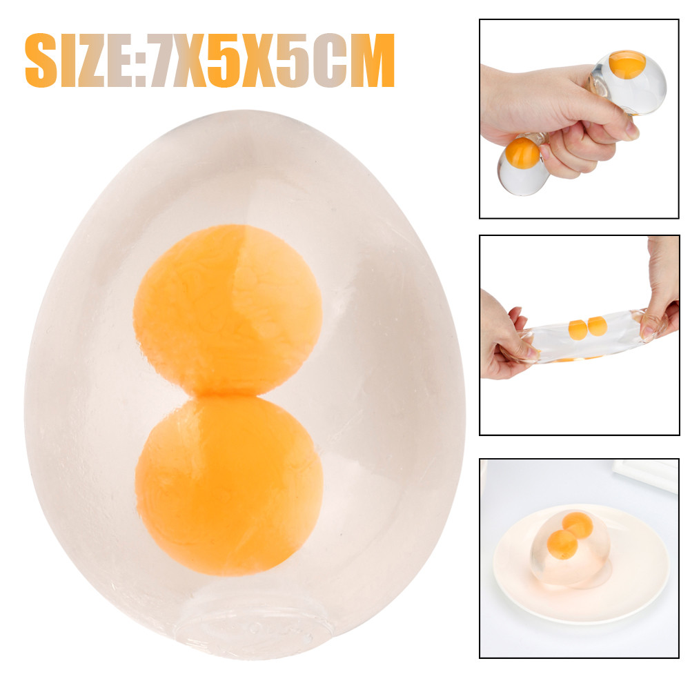 Anti stress kawaii gadget toys Double egg yolk Eggs squish tricks Super Soft Relax Stress Reliever Kid Toy Gift Dropshipping