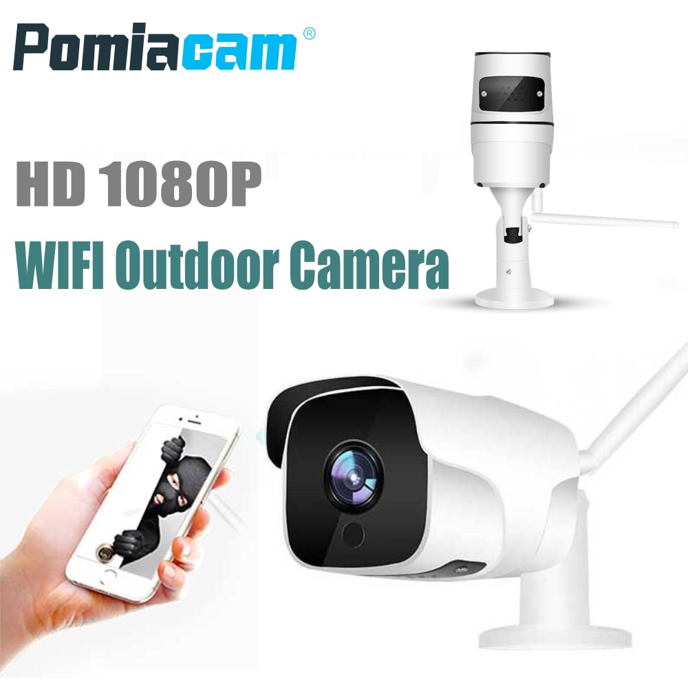 Wifi IP Camera EC60 1080P Wireless Wired P2P Indoor Outdoor CCTV Bullet Camera With SD Card Slot Max 128G Motion detection