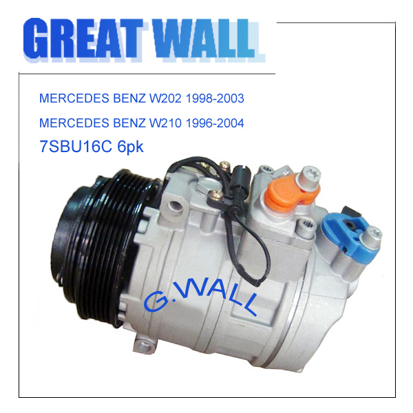DENSO 7SBU16C AC COMPRESSOR FOR CAR MERCEDES-BENZ W202 W210 Sprinter 447100-2031 447100-6820 A0002302011
