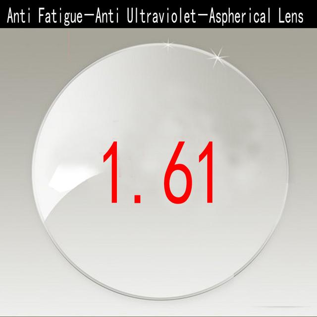 Anti Fadiga 1.61 Anti Radiação Ultravioleta Única Visão Lentes Para Miopia/Hipermetropia 1.61 Lente Asférica