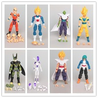 New Dragon Ball Z Dragon Ball DBZ Anime Joint Movable Action Figure Toy 8 pcs Set birthday gift for boy children Anime